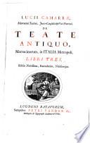 Thesaurus antiquitatum et historiarum Italiae... collectus cura et studio Joannis-Georgii Graevii...