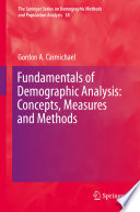 Fundamentals of Demographic Analysis  Concepts  Measures and Methods