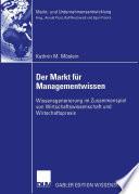 Der Markt f  r Managementwissen