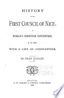 History of the First Council of Nice