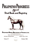 Palomino Progress  Official Stud Book and Registry Book PDF