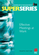 Effective Meetings at Work