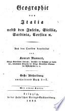 Geographie der Griechen und Romer aus ihren schriften dargestellt von Konrad Mannert