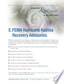 FEMA Hurricane Katrina Recovery Advisories   Part E