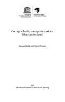 Corrupt Schools Corrupt Universities