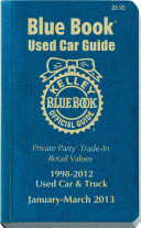 Kelley Blue Book Used Car Guide 1998 2012