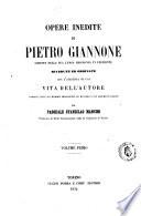 Opere inedite di Pietro Giannone scritte nella sua lunga prigionia in Piemonte