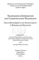 Transparency, Information And Communication Technology : ...