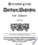 Dillenburgische Intelligenz-Nachrichten des jahres ...