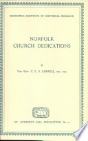 Norfolk Church Dedications