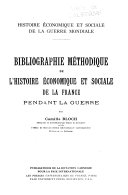 Economic and Social History of the World War   French Series