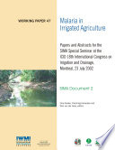 Malaria In Irrigated Agriculture Papers And Abstracts For The Sima Special Seminar At The Icid 18th International Congress On Irrigation And Drainage Montreal 23 July 2002