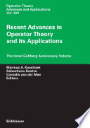 Recent Advances In Operator Theory And Its Applications book