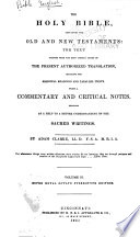 The Holy Bible Containing the Old and New Testaments  the Text Printed from the Most Correct Copies of the Present Authorized Translation  Including the Marginal Readings and Parallel Texts  Matthew to Acts