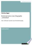 """Reinterpretation einer Biographie """"Lebenslauf"""""""