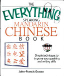 The Everything Speaking Mandarin Chinese Book