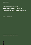 Strafgesetzbuch  Leipziger Kommentar