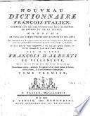 Nouveau dictionnaire fran  ois italien