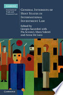 General Interests of Host States in International Investment Law