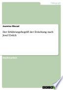 Der Erfahrungsbegriff der Erziehung nach Josef Dolch