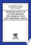 Hydrogeology of an Arid Region  The Arabian Gulf and Adjoining Areas