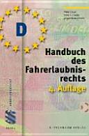 Handbuch des Fahrerlaubnisrecht