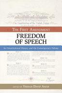 The First Amendment  Freedom of Speech