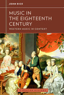 Music in the Eighteenth Century  Western Music in Context  A Norton History