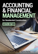Accounting Financial Management For Residential Construction Sixth Edition