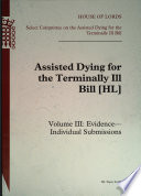 Assisted Dying for the Terminally Ill Bill   Evidence   Individual Submissions