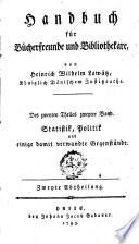 Handbuch für Bücherfreunde und Bibliothekare