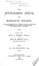 The Antananarvio Annual and Madagascar Magazine Book PDF