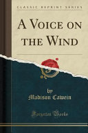 download ebook a voice on the wind (classic reprint) pdf epub