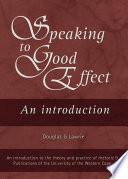 Speaking to Good Effect Book PDF