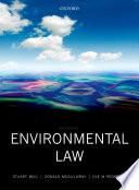 Environmental law.
