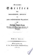 Das Leben des Professor Christian Jacob Kraus ... aus den Mittheilungen seiner Freunde und seinen Briefen. Dargestellt von Johannes Voigt
