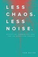 Less Chaos  Less Noise