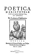 Poetica d Aristotele vulgarizzata  et sposta
