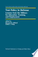 Test Policy in Defense