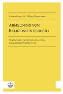 Abmeldung Vom Religionsunterricht