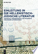 Einleitung in die hellenistisch-jüdische Literatur