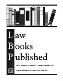 Law Books Published