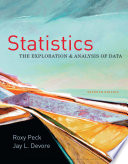 Statistics  The Exploration   Analysis of Data