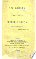 An Essay on the Works of Frederic Chopin   By James William Davison