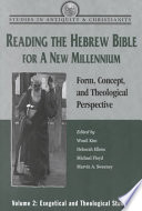 Reading the Hebrew Bible for a New Millennium  Volume 2