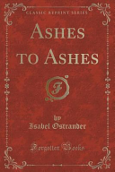 Ashes To Ashes Classic Reprint