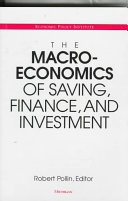 The Macroeconomics of Saving  Finance  and Investment