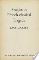 Studies in French classical Tragedy