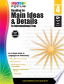 Spectrum Reading For Main Ideas And Details In Informational Text