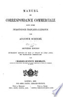 Manuel De Correspondance Commerciale